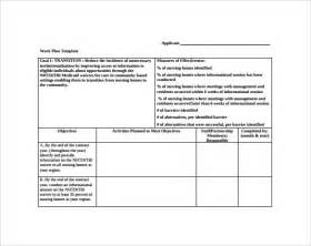 work plan template work plan template 13 free documents for word