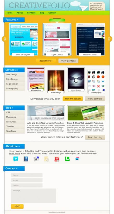 web layout for photoshop best photoshop web design tutorials tutorialchip