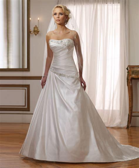 satin sweetheart wedding dresses   Sang Maestro