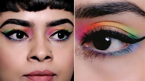 eyeliner tutorial glamrs quick easy rainbow cut crease eye makeup look for new