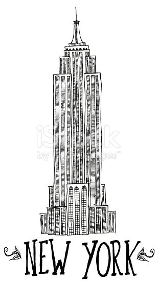 layout of empire state building hand drawn empire state building with hand lettered new