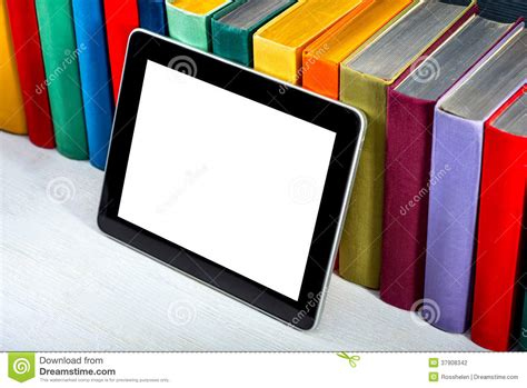 reading on tablet reading books on tablet stock photography image 37908342