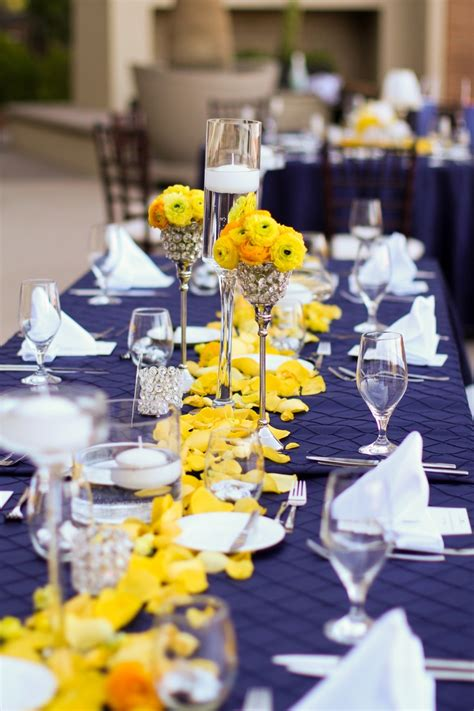 decorating of party page decor wedding theme for winter navy blue and yellow wedding decor homemade party design