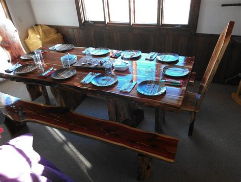 cedar dining room table dining room table benches by cedar furniture lodge