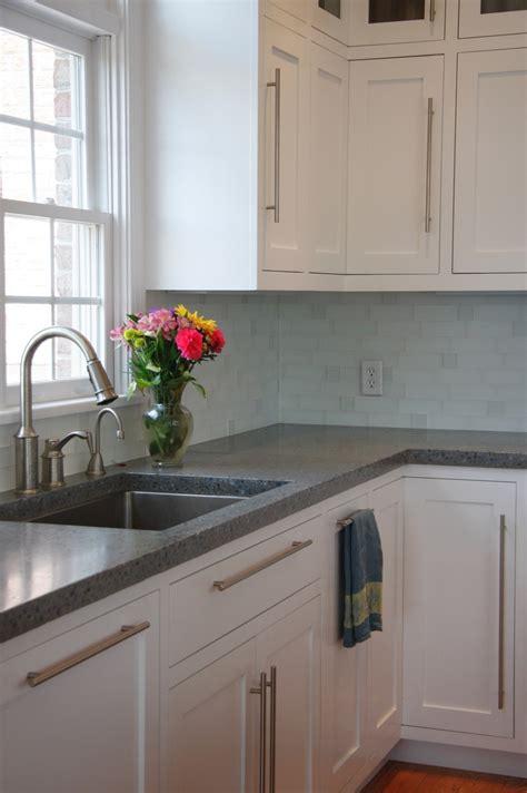 gray countertops with white concrete counters kitchen pinterest white shaker