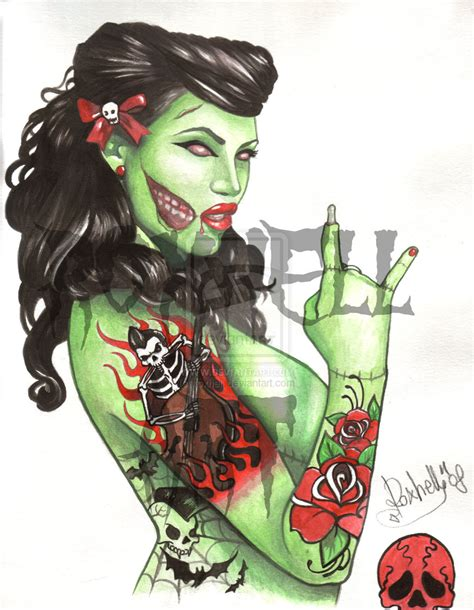 zombie pin up girl tattoos all the girly things pin up makeup and hair