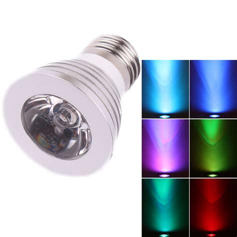 Magic Lighting Led Light Bulb And Remote New E27 3w Magic Lighting Led Light Bulb Remote With 16 Different Color L Ebay