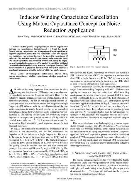 inductor for noise reduction inductor properties pdf 28 images experiment c2 magnetic properties of a ferrite pot