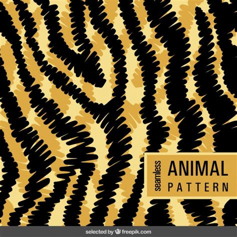 pattern tiger ai animal pattern in doodle style vector free download