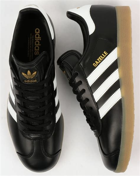 Sale Sepatu Casual Adidas Gazelle Gum Made In adidas gazelle trainers black white gum leather originals shoes mens