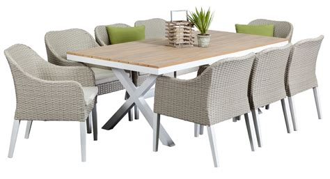 8 seater outdoor table and chairs aluminium outdoor dining sets maine 8 seater segals