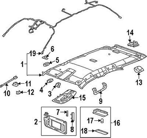 factory gmc parts buy gmc 22796223 genuine oem factory original sunvisor