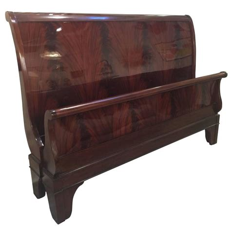 Mahogany Sleigh Bed King Size Mahogany Sleigh Bed At 1stdibs