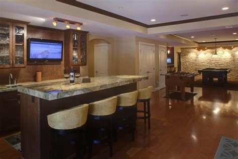 Finished Basement Bar Ideas 27 Luxury Finished Basement Designs
