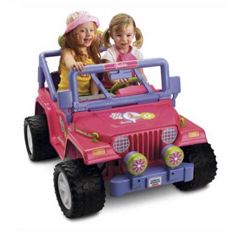 barbie jeep power wheels 90s ride on police jeep