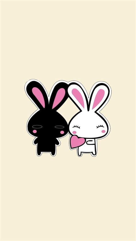 wallpaper cartoon bunny 2 cute cartoon rabbits wallpaper free iphone wallpapers