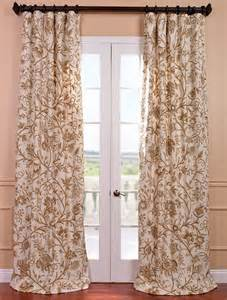 crewel drapes chantal embroidered cotton crewel curtain traditional