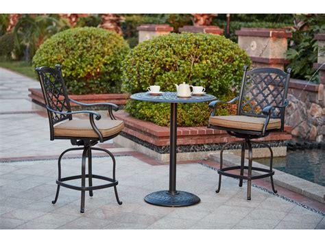 darlee cast aluminum outdoor patio round square bar stool darlee outdoor living standard madison cast aluminum