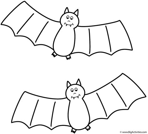 bats coloring page halloween
