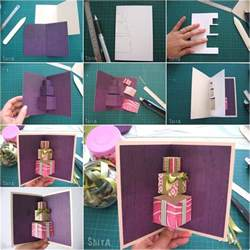 how to diy 3d gift box pop up card