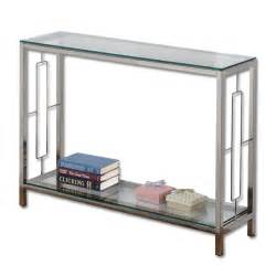 Living Room Console Table Athena Chrome Console Table Buy Glass Console Tables Living Room