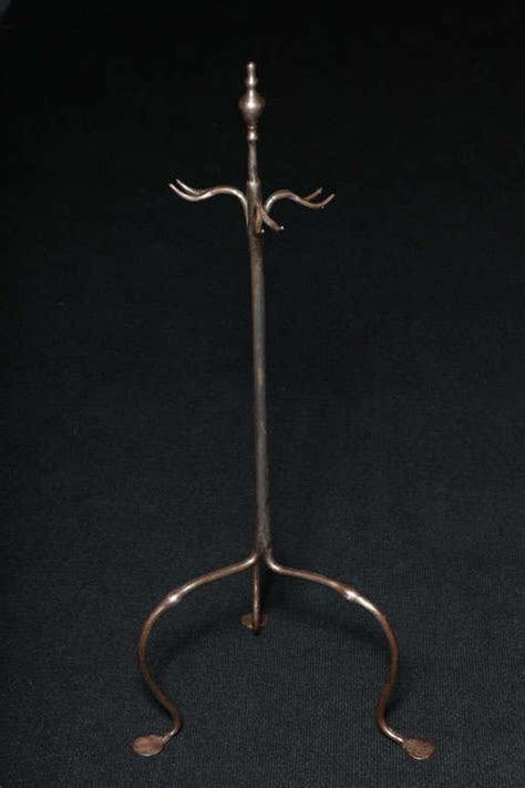 Blacksmith Made Fireplace Tools by Blacksmith Made Sculptural Polished Steel Firetool Stand