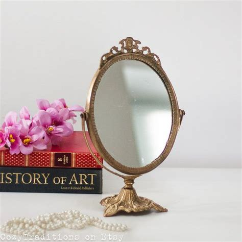 vintage table top mirror table mirror makeup mirror on stand antique