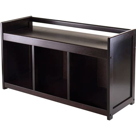 storage bench walmart addison entryway storage bench espresso walmart com