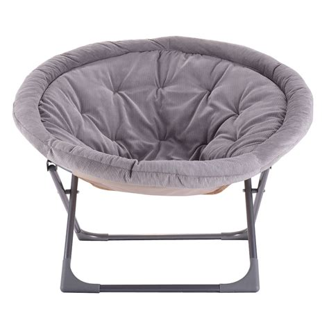new oversized large folding saucer moon chair corduroy