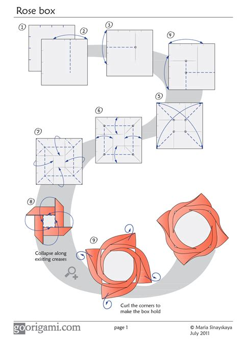 Origami Box Diagram - box diagram