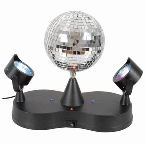 Mini Disco Rotate Mirror Ball 2 Led Party Spot Lights Ebay