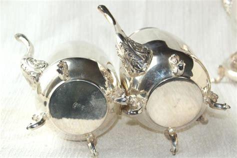 Mass Der Set Heavy Silver antique 1920s vintage silver plate copper tea set w