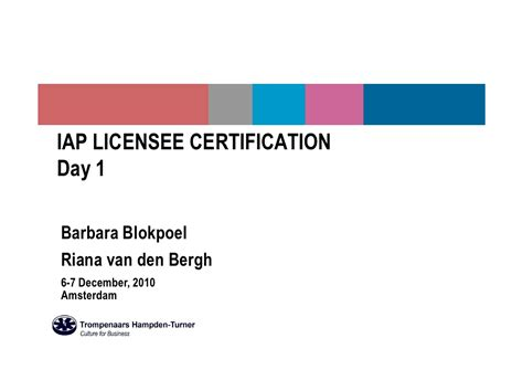 Cross Cultural Management Ppt Mba by Tht Iap Certification Presentation Day1 6dec2010