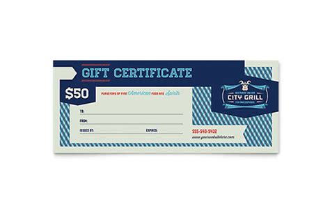 food gift certificate template food beverage gift certificates templates designs