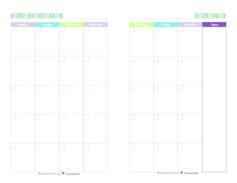 printable calendar half page blank 2 page per month calendar half size green blue