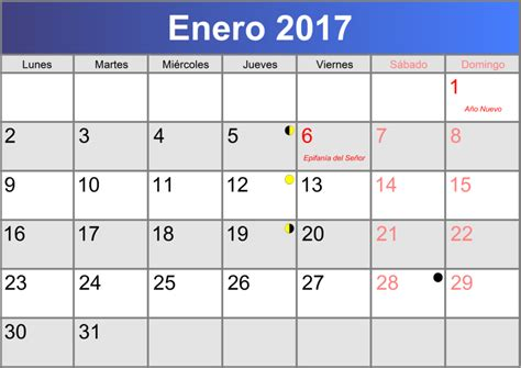 Calendario 2017 De Enero Calendario Enero 2017 Imprimible Pdf Abc Calendario Es