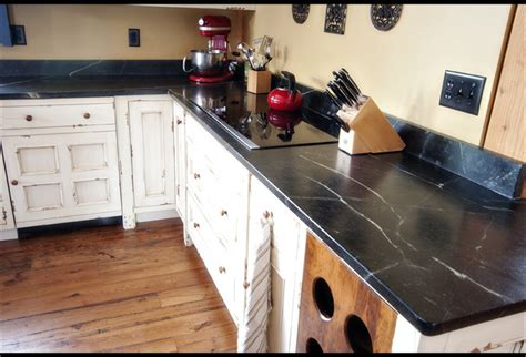 Soapstone Countertops Uk Saratoga Soapstone Shabby Chic Traditional Kitchen