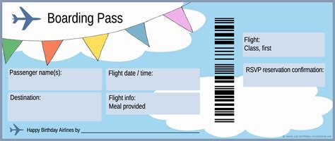 Airline Ticket Template Invitation by Free Boarding Pass Template Search Homeschool