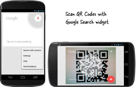 scan qr code android scan qr codes with the search widget on android