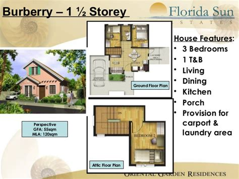 floor plan with perspective house florida sun estates 2
