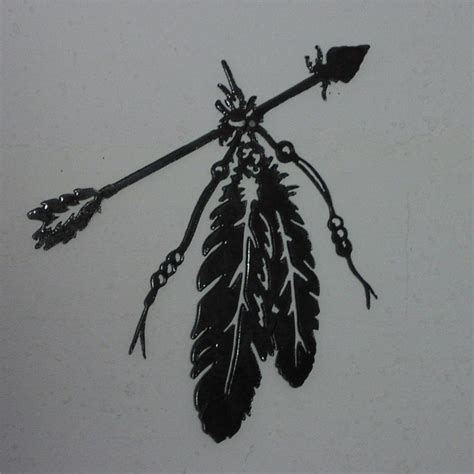 cherokee feather tattoo designs indian arrow metal arrow and
