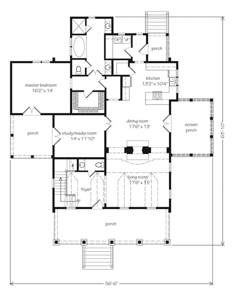 coastal cottage floor plans eastover cottage watermark coastal homes llc southern