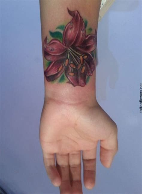 lily tattoos on wrist best 25 flower tattoos on wrist ideas on