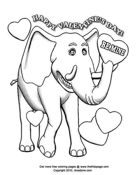 elephant valentine coloring page be mine elephant free valentine s day coloring pages