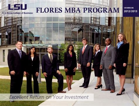 Lsus Mba Course Rotation by Time Master Of Business Administration Program At