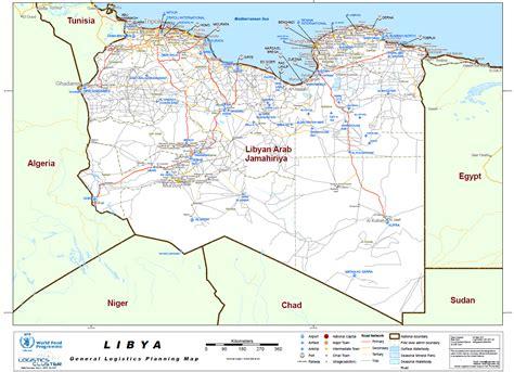 map of libya un libya general logistics planning map intelligence