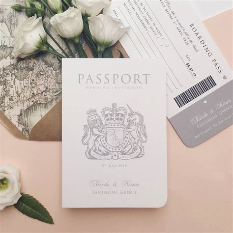 A Wedding Invitation by Around The World Passport Wedding Invitation By Ditsy