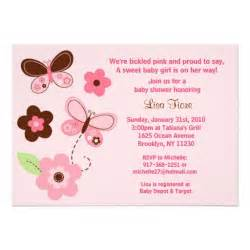 butterfly flowers custom baby shower invitations 5 quot x 7