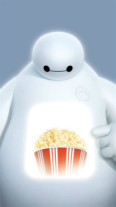 wallpaper baymax iphone big hero 6 baymax popcorn projection iphone 6 wallpaper