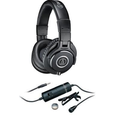 Headphone Audio Technica M40x buydig audio technica ath m40x professional studio monitor headphone atr 3350i microphone